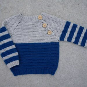 Crochet Full Sleeve Handmade Sweater For Kids - Woollei