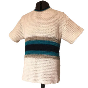 CROCHET OFF-WHITE HALF-SLEEVE SEATER FOR MAN - Woollei