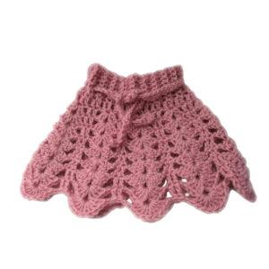Woolen Crocheted Pink Baby Skirt - Woollei
